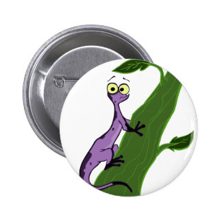 N is for Newt 2 Inch Round Button