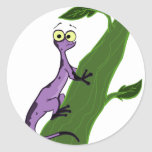 N is for Newt Classic Round Sticker