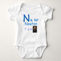 N is for Newton Baby Bodysuit