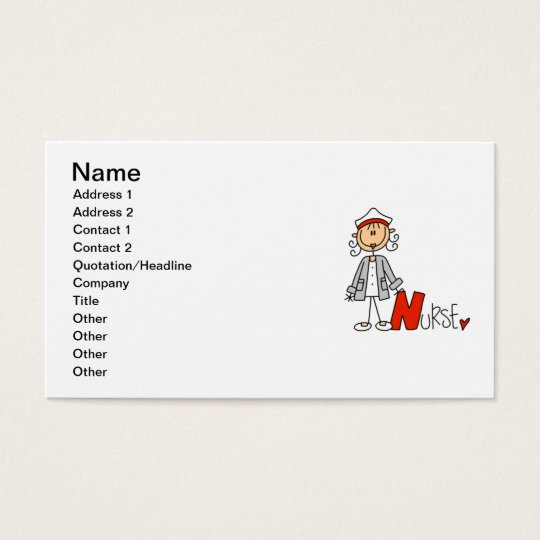 N is for Nurse Business Card