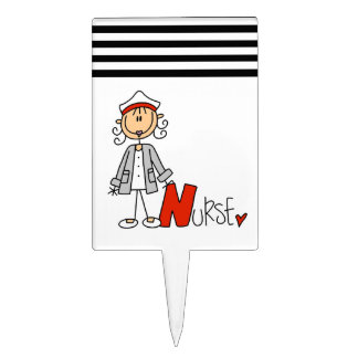 N is for Nurse Rectangle Cake Toppers