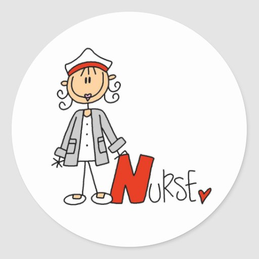N is for Nurse Classic Round Sticker