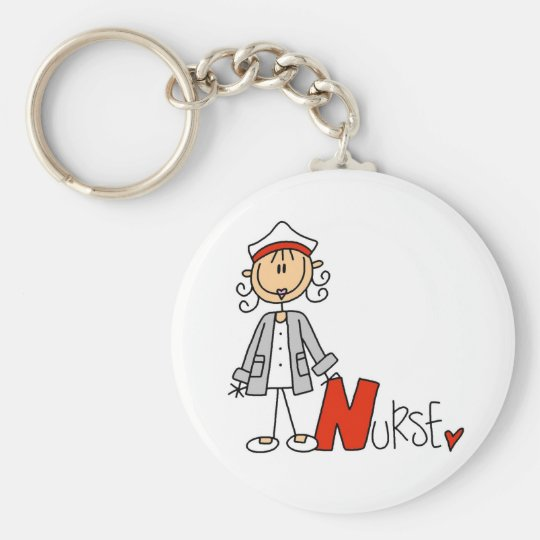 N is for Nurse Keychain