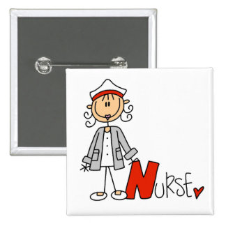 N is for Nurse Pinback Button