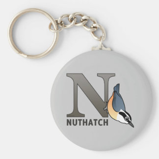 N is for Nuthatch Keychain