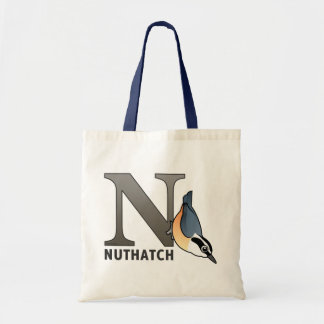 N is for Nuthatch Tote Bag