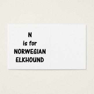 n is norwegian elkhound.png business card
