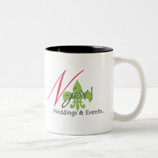N-joY! White with Black Mug