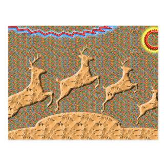N juguetona que compite con ciervos tarjetas postales