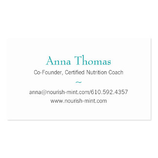 n-m Business Card Solid Teal