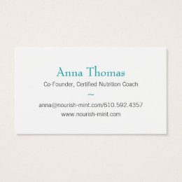 Founder business cards templates zazzle n m business card solid teal colourmoves