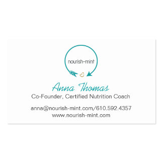 n-m Teal Striped Business Card