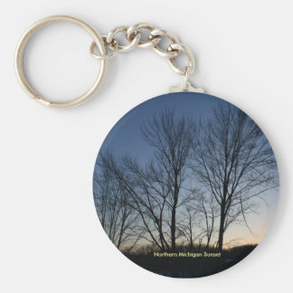 N. Michigan Sunset Keychain