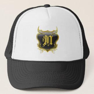 N Monogram Customize Edit Change Background Color Trucker Hat