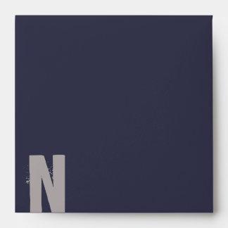N Monogram Initial Bar Bat Mitzvah Envelope
