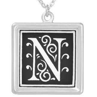 N Monogram Letter Pendant