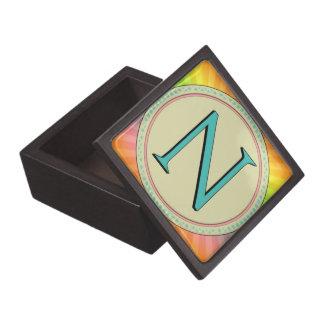 N MONOGRAM LETTER PREMIUM TRINKET BOX