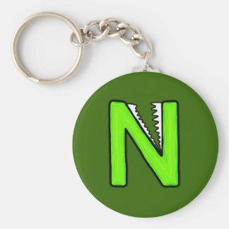 N Monster Keychain