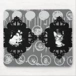 N Mousepad de señora Abigail y de sir Oswin Cat Tapetes De Ratones