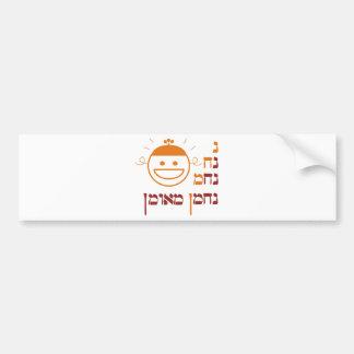 N Na Nach Nachma Nachman Meuman Car Bumper Sticker