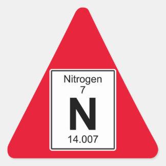 N - Nitrogen Triangle Sticker