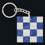 "N November Watercolor Nautical Signal Flag Keychain<br><div class=""desc"">Looking for a traditional nautical gift idea with a modern twist -- here&#39;s a maritime signal flag with a faux watercolor finish! This one is the signal flag for the Letter N November in royal blue and white, &quot;blue and white checkers watercolor design. Looking for a cute little nautical gift...</div>"