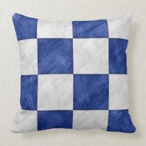 N November Watercolor Nautical Signal Flag Throw Pillow