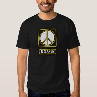 N.O. Camiseta pacifista del antimilitarismo de la Playeras