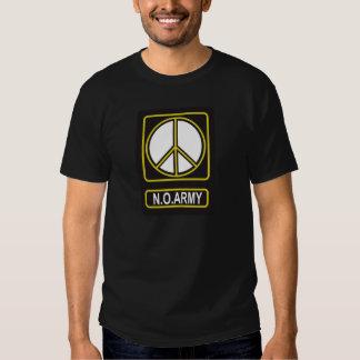 N.O. Camiseta pacifista del antimilitarismo de la Remera