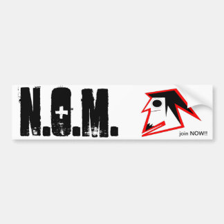 N.O.M. join Bumper Sticker