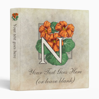 N para el monograma de la flor de la capuchina