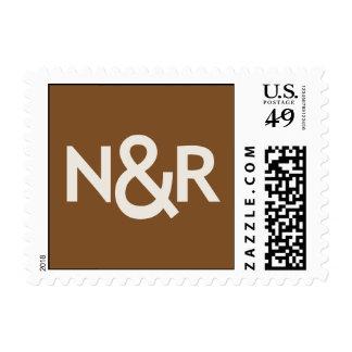 N&R Brown Postage Stamp