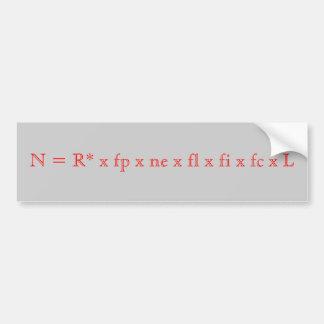 N = R* x fp x ne x fl x fi x fc x L Bumper Sticker