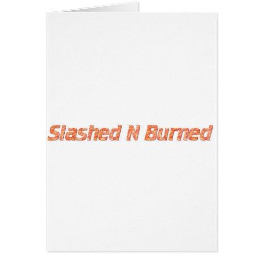 n radical radicalmente quemada tarjetas