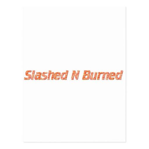 n radical radicalmente quemada postal