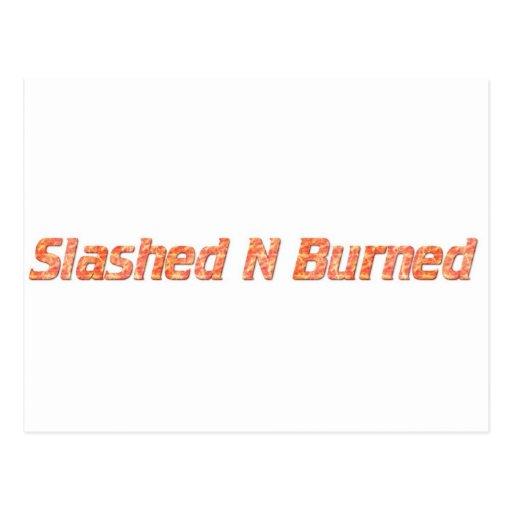 n radical radicalmente quemada postales