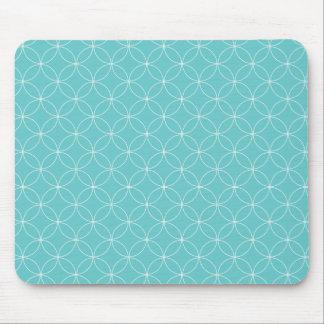 N redonda redonda - en azul claro tapetes de ratón