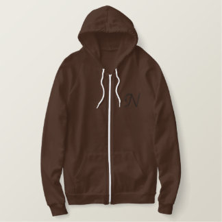 """N"" Rope Alphabet 2.5"" Embroidered Hoodie"