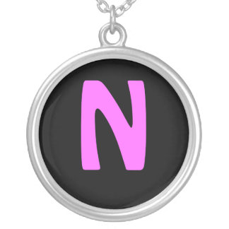 N ROUND PENDANT NECKLACE