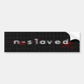 n-s1aved decal sticker car bumper sticker