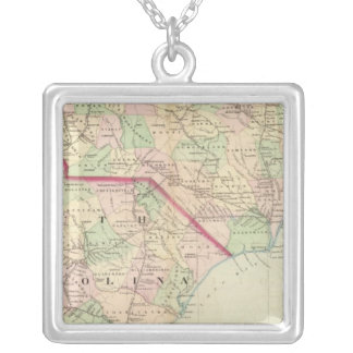 N & S Carolina 2 Silver Plated Necklace