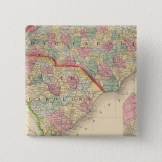 N & S Carolina Map by Mitchell Button
