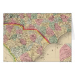 N & S Carolina Map by Mitchell Greeting Cards