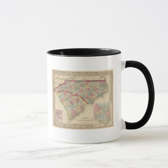 N & S Carolina Map by Mitchell Mug