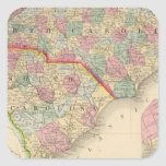 N & S Carolina Map by Mitchell Sticker