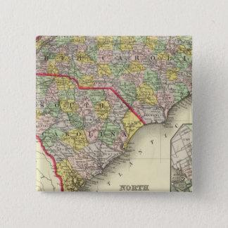 N & S Carolina Pinback Button