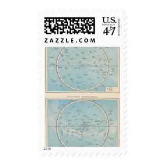 N, S Sternhimmel Celestial Atlas Map Postage