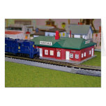 N Scale Model Train Village Card