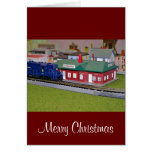 N Scale Model Train Village Greeting Cards
