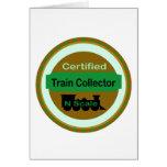 N Scale Train Collector Customizable Card